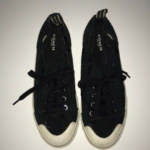 Black COACH sneakers